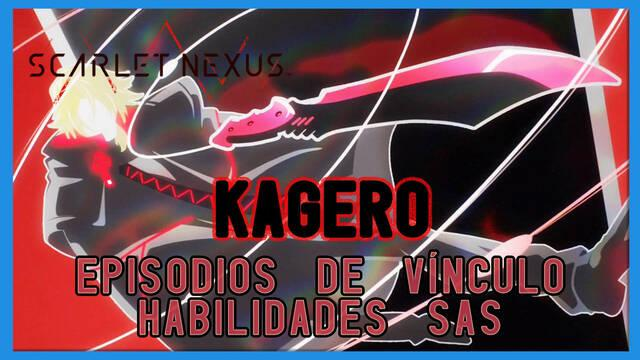 Kagero en Scarlet Nexus - Episodios de vínculo y habilidades SAS