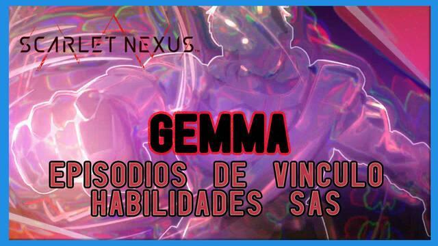Gemma en Scarlet Nexus - Episodios de vínculo y habilidades SAS