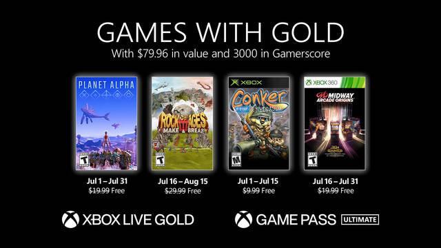 Juegos con Gold de julio de 2021.