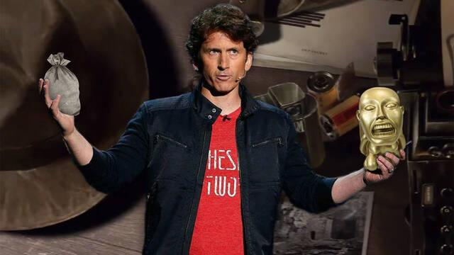Todd Howard presentó el Indiana Jones de Bethesda a George Lucas en 2009.