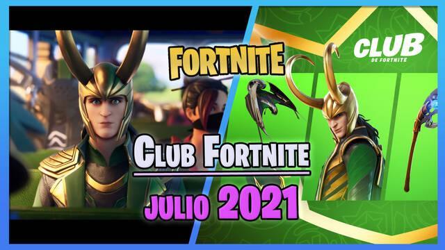 Club de Fortnite (julio 2021): Skin de Loki, todos los contenidos y ventajas