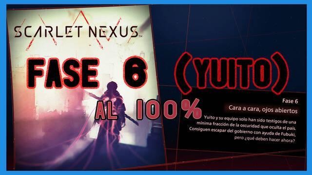Fase 6: Cara a cara, ojos abiertos al 100% en Scarlet Nexus