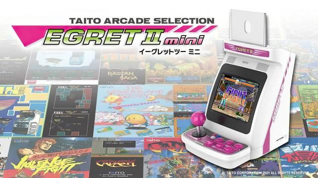 Taito presenta la Egret II Mini, una recreativa en miniatura con decenas de clásicos