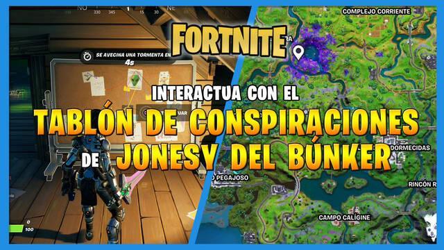 Fortnite T7: tablón de Jonesy del búnker - LOCALIZACIÓN