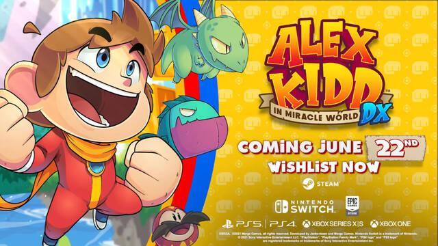 Alex Kidd in Miracle World DX adelanta su lanzamiento y muestra un nuevo tráiler.