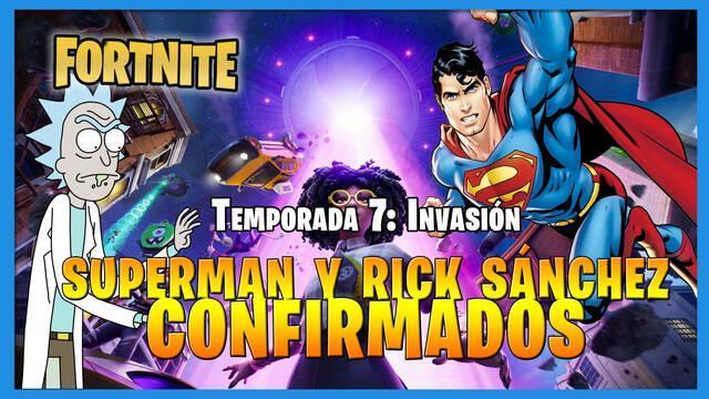 Fortnite: Superman y Rick Sánchez, confirmados como nuevos personajes