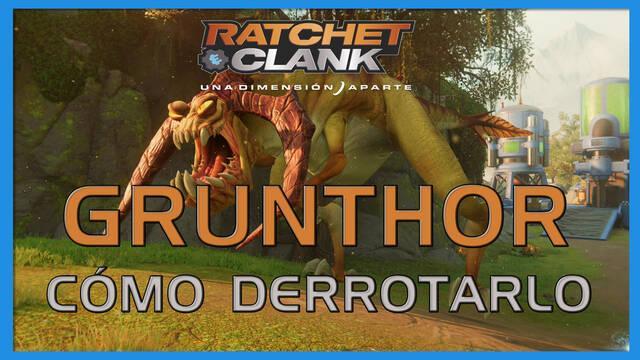 Grunthor en Ratchet & Clank: Una dimensión aparte - Cómo derrotarlo