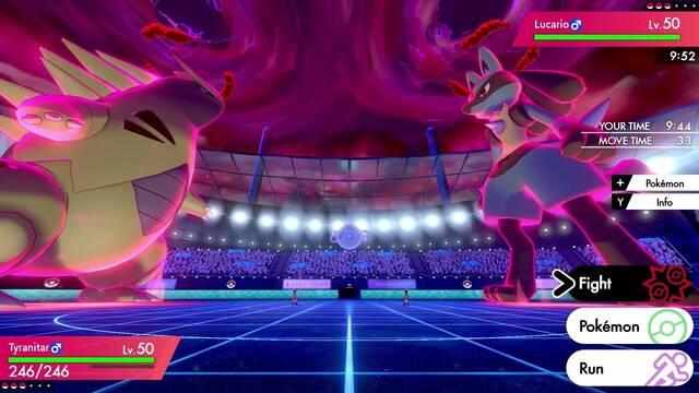Pokémon Espada y Escudo campaña tiempo combates