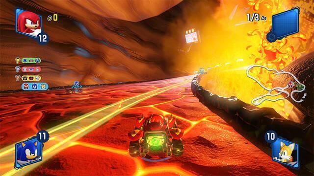 Team Sonic Racing presenta el caluroso mapa 'Hidden Volcano'