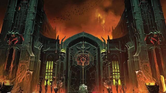 Doom Eternal muestra la puerta del infierno en un diseño conceptual
