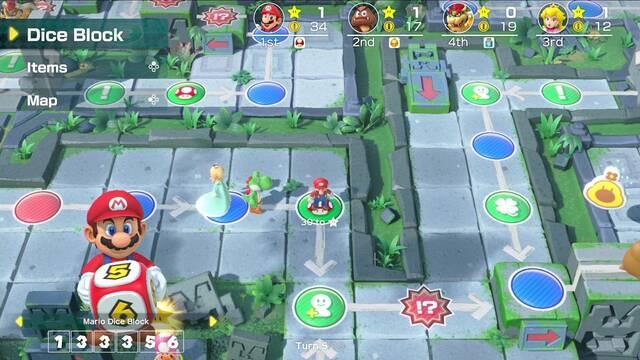 Super Mario Party modos online minijuegos