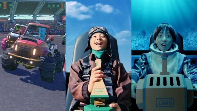 El Vehicle Kit de Nintendo Labo se muestra ante el público japonés