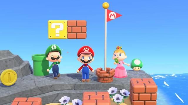 Animal Crossing: New Horizons y los objetos cosméticos de Mario
