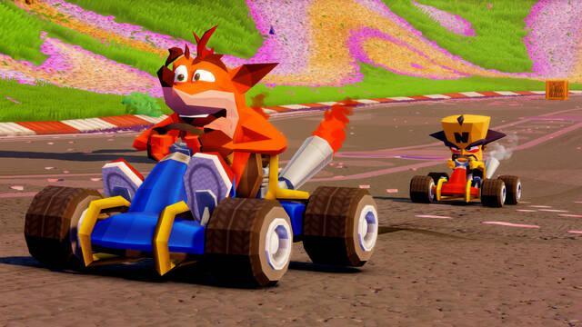 Fake Crash aprieta el acelerador en Crash Team Racing Nitro-Fueled