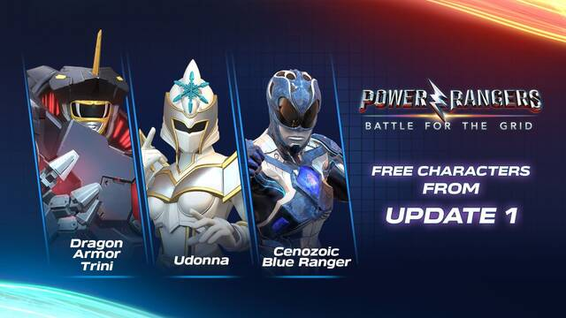 Tres nuevos personajes llegarán a Power Rangers: Battle for the Grid
