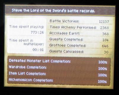Un jugador tarda 773 horas en completar Dragon Quest IX