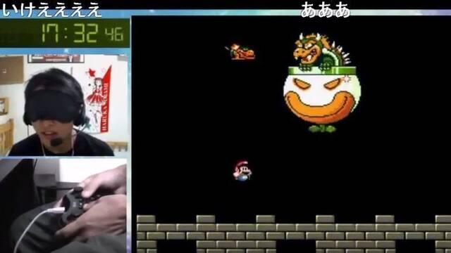 Completan Super Mario World en 17 minutos y 46 segundos con los ojos vendados