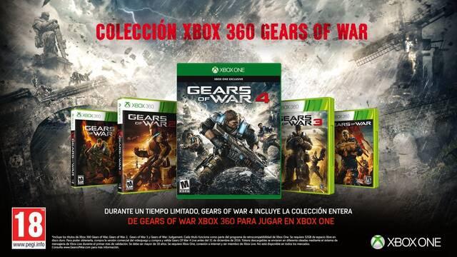 Comprando Gears of War 4 antes del 31 de diciembre recibiremos gratis la saga completa