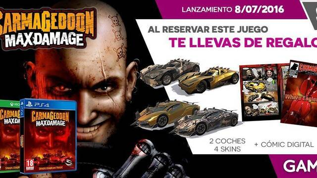 GAME detalla sus incentivos por reserva para Carmageddon: Max Damage