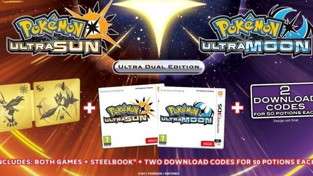 Pokémon Ultrasol / Ultraluna presenta sus ediciones especiales