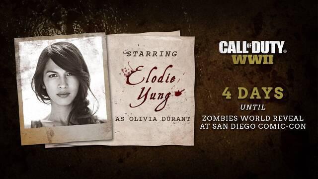 Elodie Yung estará en los zombies de Call of Duty: WWII