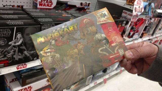 Descubren una caja de Mario Kart 64 oculta durante años en un Toys R US