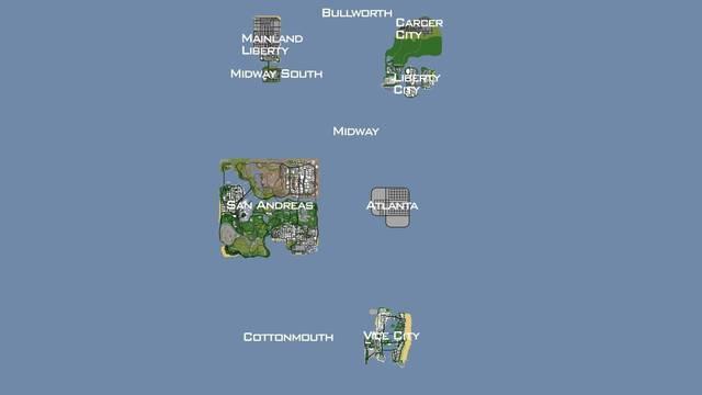 Quieren agregar diferentes ciudades de Rockstar a GTA San Andreas