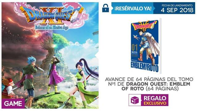GAME detalla su incentivo por reserva para Dragon Quest XI