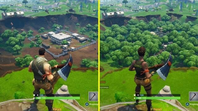 Comparan el mapa de Fortnite Battle Royale en sus temporadas 4 y 5