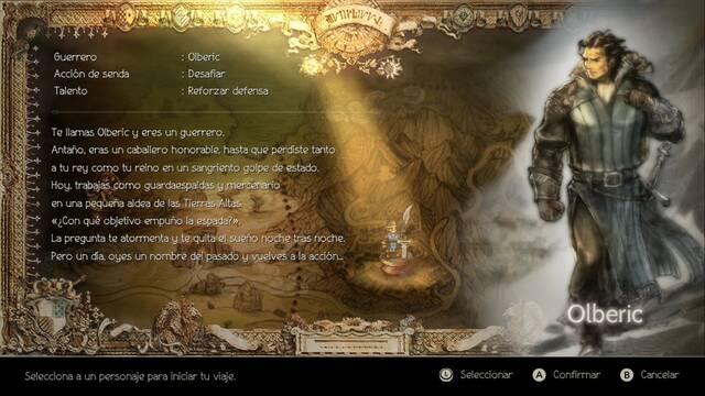Modo historia: Todos los capítulos de Olberic en Octopath Traveler