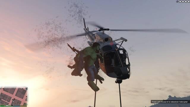 Este mod de Hulk para GTA V permite desatar el caos y 'aplastar' Los Santos