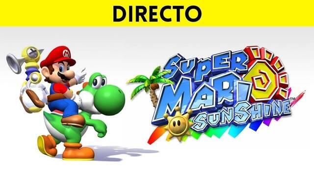 Jugamos en directo a Super Mario Sunshine a partir de las 19:00