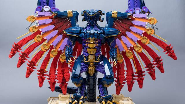 Construyen el Bahamut de Final Fantasy con 10.000 piezas de LEGO