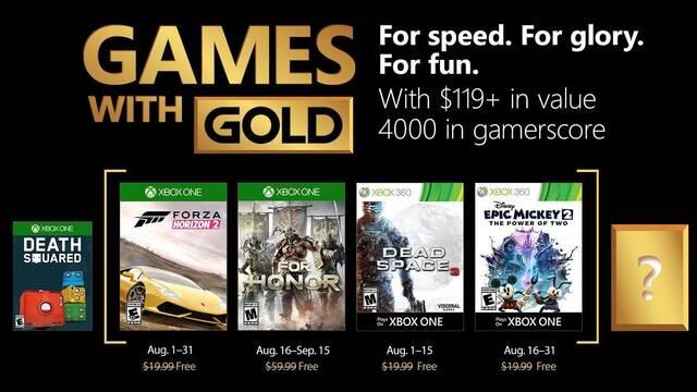 Anunciados los Juegos con Gold de agosto de 2018