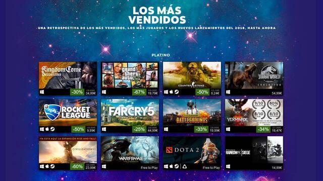 Steam revela los juegos más vendidos de 2018 hasta ahora