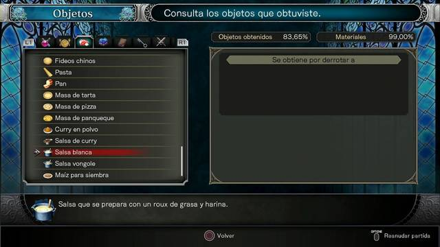 TODOS los igredientes en Bloodstained: Ritual of the night