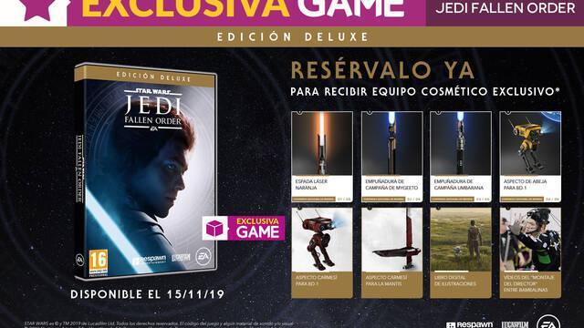 GAME detalla su exclusiva Edición Deluxe de Star Wars Jedi: Fallen Order y sus incentivos
