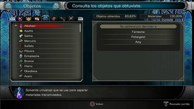 TODOS los materiales en Bloodstained: Ritual of the night