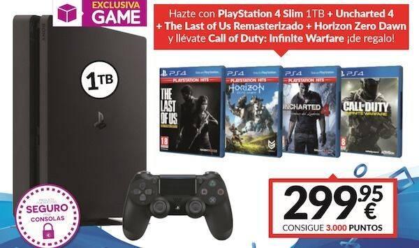 GAME anuncia un nuevo pack de PS4 Slim 1TB más 4 juegos por 299,95 euros