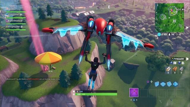 Fortnite: Salta a una sombrilla gigante en partidas distintas - LOCALIZACIÓN