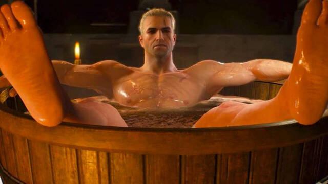 La serie de The Witcher en Netflix tendrá una referencia al meme de Geralt en la bañera
