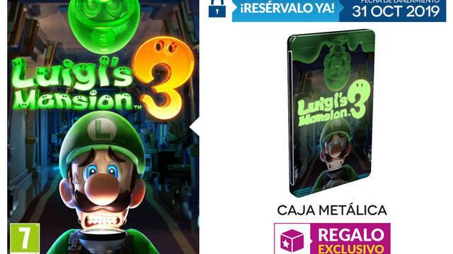 GAME detalla sus incentivos de reserva para Luigi's Mansion 3