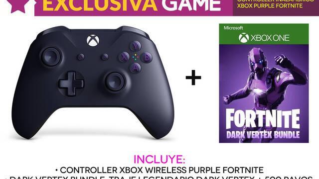 GAME venderá en exclusiva el mando lila de Fortnite para Xbox One