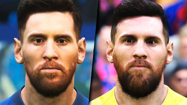Comparan los rostros de la demo de eFootball PES 2020 con PES 2019