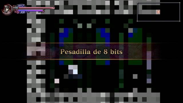 Pesadilla de 8 bits al 100% en Bloodstained: Ritual of the night