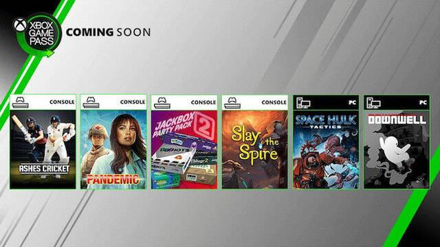 Xbox Game Pass: Downwell, Slay the Spire, Pandemic y más llegan en agosto