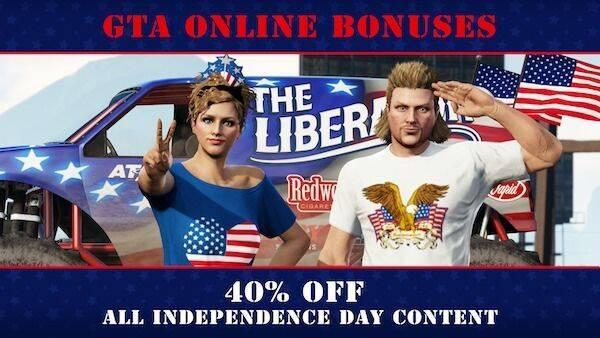 GTA Online celebra el 4 de julio con descuentos y novedades