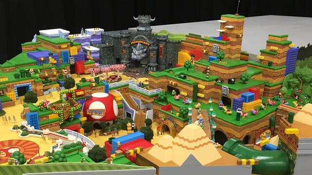 Se filtran imágenes de la maqueta del parque Super Nintendo World