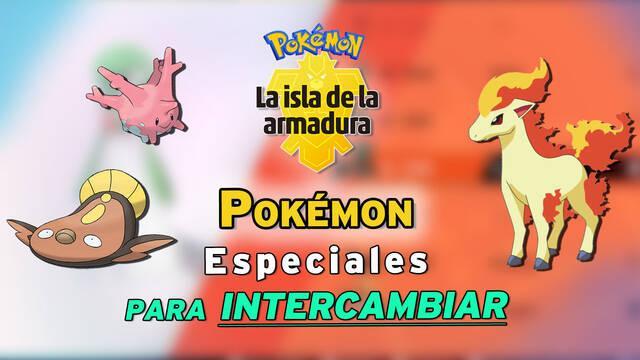 Todos los Pokémon especiales para intercambiar en La Isla de la Armadura (DLC)