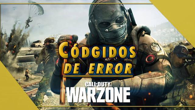 Call of Duty Warzone: Todos los Códigos de Error y cómo solucionarlos
